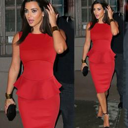 Wholesale-2015 new summer women midi dress work wear peplum dress new fashion celebrities high street bodycon dresses