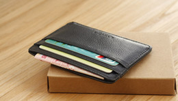 Wholesale NEW Men small card pack Men s slim leather wallet dermis Coin Purse Bank Card wallets card holder document sets