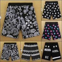 board printing - New men s summer casual shorts loose slim fashion print weed bandana dots board shorts beach street wear for man
