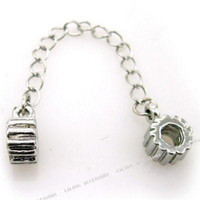 Wholesale Safety Chain Alloy Bead Charm Bead Jewelry Fit European Bracelet