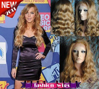 Wholesale 2011 New Celebrity Hairstyle quot Body Wave Swiss Lace Front India Human Hair Wigs CH102