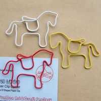 Bookmarks paper clips - Horse Animal Shaped Paper Clip bookmark x mm Stationary