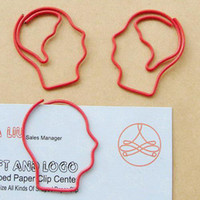 Wholesale Human Head Brain Shaped Paper Clip bookmark x mm Stationary