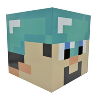 Wholesale 80pcs Minecraft Masks Steve Creeper Zombie Box head mask set Party masks paper model Headgear