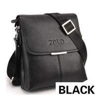 Wholesale POLO bag new leather handbags male bag briefcase Business single shoulder bag leisure men messenger bag S1001