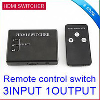 Wholesale 3 Port HDMI Switch Switcher Selector IR Remote control D0138A