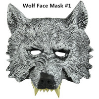 Wholesale Creepy Latex Rubber Masquerade Halloween Chrismas Easter Party Cosplay Costume Theater Prop Grey Werewolf Wolf Face Mask