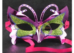 Wholesale Cheap New Bee Style Masquerade Masks Gold Powder Butterfly Mask