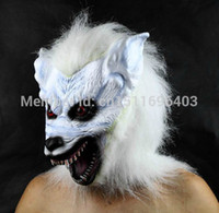 awesome halloween costume - FD79 Awesome Creative Halloween Party Wolf head latex rubber mask Creepy Novelty costume prop