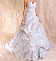 Wholesale 2011 New Elegant Strapless Chiffon Wedding Dress Ball Gown