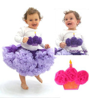 Wholesale baby girl pettiskirt tops tutu skirt tops cupcake tops birthday cake tops long sleeve shirt outfits