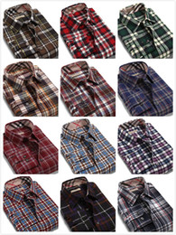 Discount Men S Plaid Button Down Shirts | 2017 Men S Plaid Button ...