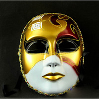 best paint for face painting - Best Selling Venice Mask For Male And Female God Of Music Theme Full Face Painted Mask Retail