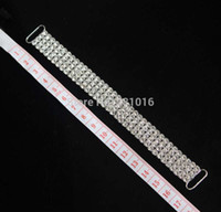 Wholesale ROWS Full Crystal Rhinestone Bikini Connectors Buckle Metal Chain For Swimming Wear Bikini Decoration