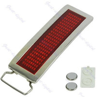 animal text - S72 Programmable Red LED Light Text Name Message Display Scrolling Belt Buckle