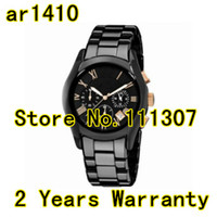 Wholesale AR1410 Black Ceramic Chronograph Mens Watch With Original box