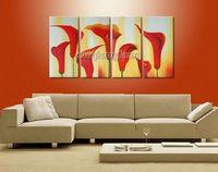 Wholesale Huge Art Handmade Flowers Oil Paintings On Canvas Cm289 framed