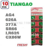 Wholesale x AG4 LR66 SR66 LR626 SR626 CX86W TIANGAO Cell Button Batteries Alkaline men ladies childre watches