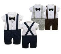 Nissen rompers tuxedo bodysuit outfit overall garment tie ba...