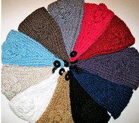 Wholesale KNITTED FLOWER HEADBANDS BEAUTIFUL GREAT FOR GIFTS