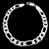 Wholesale vogue Jewlery silver MM quot Simple Truely chain Men s Bracelet