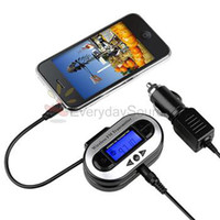 Wholesale LCD STEREO CAR FM TRANSMITTER FOR MP3 Player Touch WIRELESS STEREO FM TRANSMITTER FOR