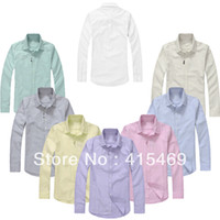 oxford shirts - Hot selling male clothes Oxford silk cloth casual long sleeve shirt male cotton small color horse Business shirt