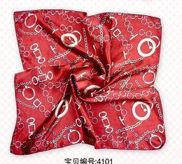 Seda Vermelha Scarf Quadrado Scarf Necker Jeans Cheap Moda Feminina Pequena 100pcs / Set Mix Free