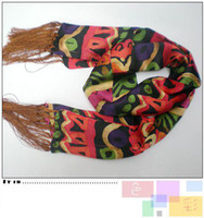 Wholesale Long Silk Scarves Floral Scarf Women s Scarf Skinny Scarf Fashion Tassel Color Scarf mix Free