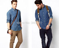 authentic designer jeans - Authentic Hot Brand Designers jeans Shirts Men fashion Casual Men Danim shirts Fitness Top Quality