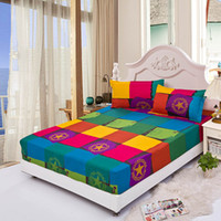 bedspread cotton yarn - Fitted bed sheet summer elastic bed cover mattress covers cushion cover bed clothes bedspread villa town bed sheet set