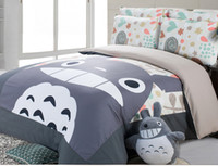 Wholesale Good quailty cotton korean Style totoro bed set bed sets Twin Queen super king size duvet cover cm cm kids