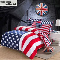 cotton fabric uk - American UK Flag bedding set Cotton Fabric for single double bed