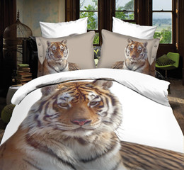 Wholesale D oil painting bedding set for double bed adult sunflower lion tiger dolphin rose romantic wolf queen size