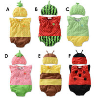 Cheap Wholesale-High Quality New Fashion Both Boy And Girl Fruit Style Cartoon Long-Sleeve Baby Romper Jumpsuits Two Piece