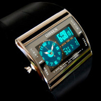 Wholesale Moodeosa OHSEN Digital LED Date Rubber Sport Waterproof Mens Boy Wrist Watch Freeshipping amp