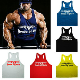 Wholesale House Of Pain Men Professional Bodybuilding Fitness Men Tank Top Root Out Cotton Printed Vest Undershirt Muscle Training Singlet