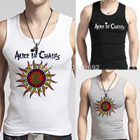 alice band men - Unique METALLICA Alice in Chains Design Men Tank Tops Van Halen Punk Band Male Sleeveless Shirt Top Quality Man Fashion Vests