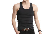 beater vest - Muscle Men Top Quality Premium Cotton A Shirt Wife Beater Ribbed Tank Tops Bodybuilding Shapers Compression Vest