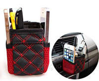 Wholesale Mini Car Tuyere Grocery Bags Car Bag Cell Phone Pocket Car Pouch Glove Black Red Car Storage Outlet