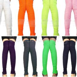 Wholesale-Warm Fashion New Design Women Ladies Colorful Long Leg Warmers Crochet Jumper Knitted Winter Warm Legging Leg Knee Gaiters