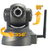 Wholesale Wireless WiFi IP Internet Pan Tilt Security Camera Night Vision Two way Audio With Holder