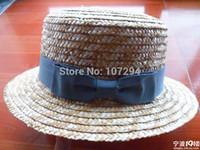 Vente en gros-Cadeau de Produits naturels canotier de paille chapeau de 2pcs gratuit livré avec un des produits dans notre boutique de ne pas envoyer séparément