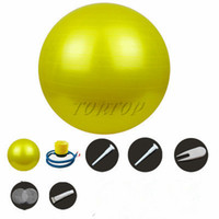 yoga ball exercise ball - New cm cm cm Yoga Fitness Ball Health Balance Pilates Gym Home Exercise Sport with Air Pump equipment colors