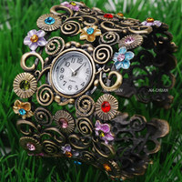 Wholesale Christmas gift Vine bangle watch Bronze Quartz Fashion women watches kow006