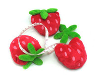 Wholesale Free transport New Novelty Cute Portable Mini Strawberry Tape Measure Cartoon Tape Measure