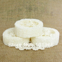 bath soap holders - Natural Loofah Luffa Loofa Pad Spa Bath Facial Soap Holder Dropshipping
