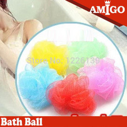 Wholesale Colorful bath and body works small bathroom tubs showers bath flower bath brush mesh sponge Relax