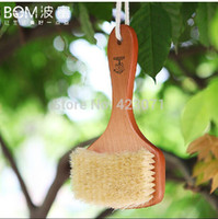 bath and body brushes - New x11cm Natural soft Theaceae Bristle body Bath Brush with Massage function and good quality and fast delivery