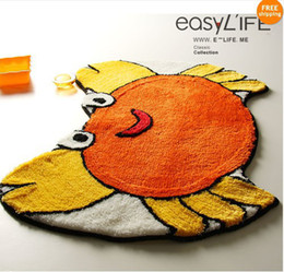 Wholesale Brand New Lovely Orange Crab Non slip Bath Rug L2211 and Retail